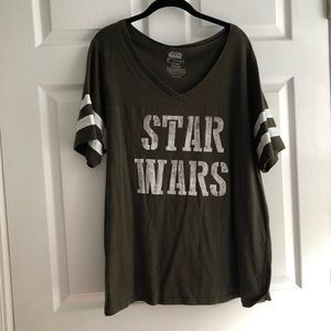torrid Tops - Torrid 2x Star Wars olive football tee